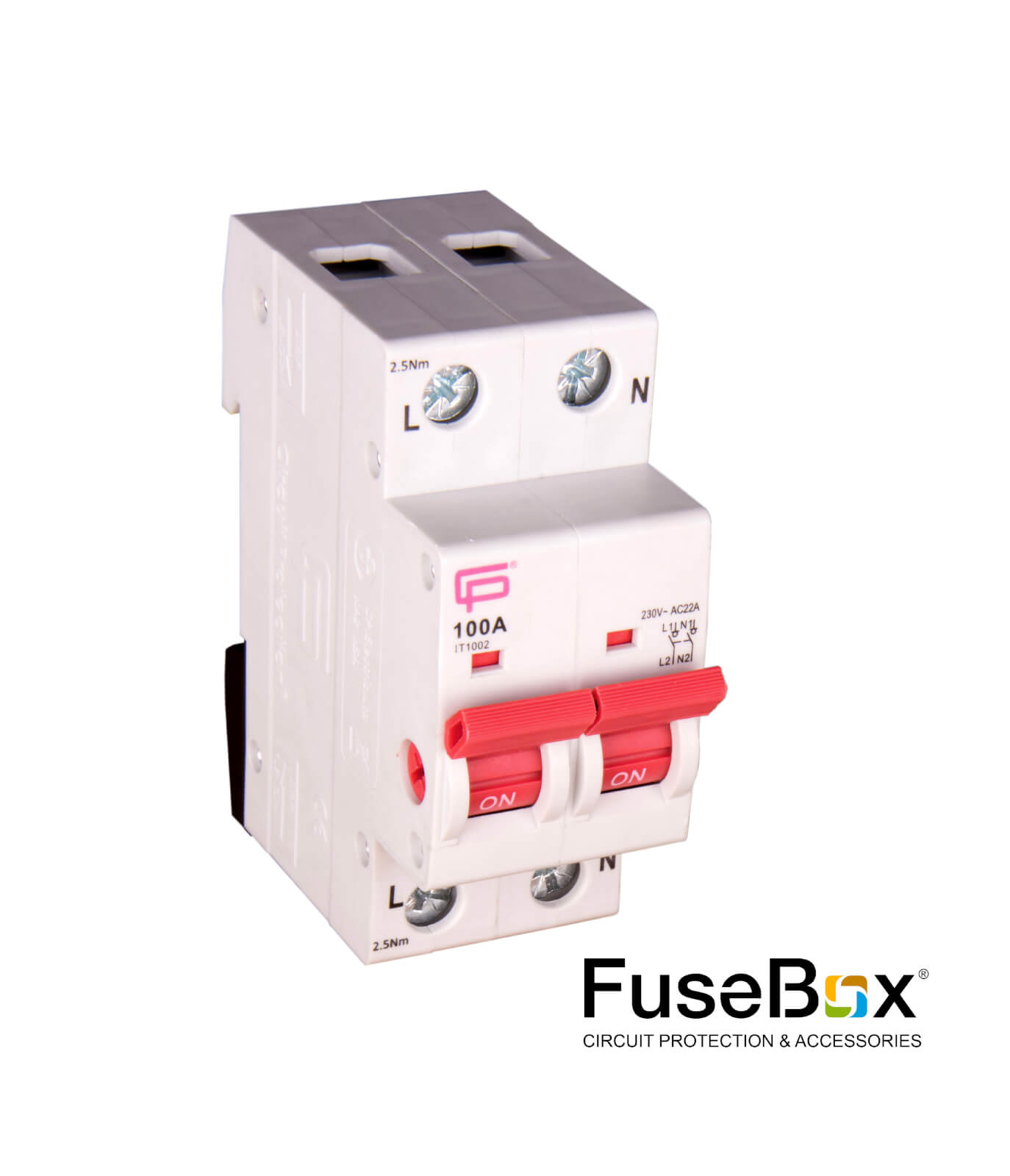 Cp Electric Fusebox Curcuit Protection Accessories Fuse Box Switch 100a 2 Pole Main