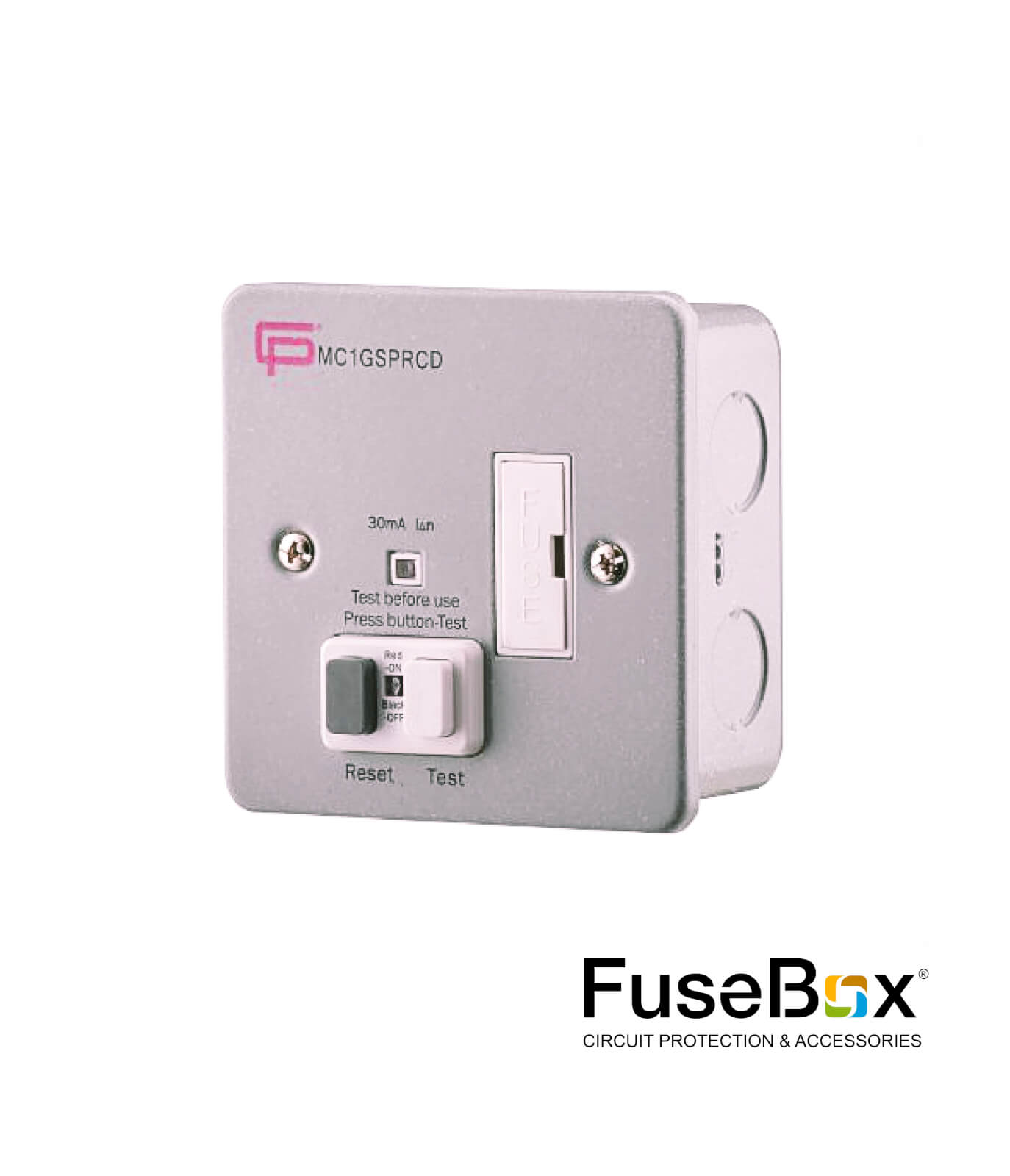 Rcd Spur 13a 30ma Metal Clad Cp Electric On Fuse Box