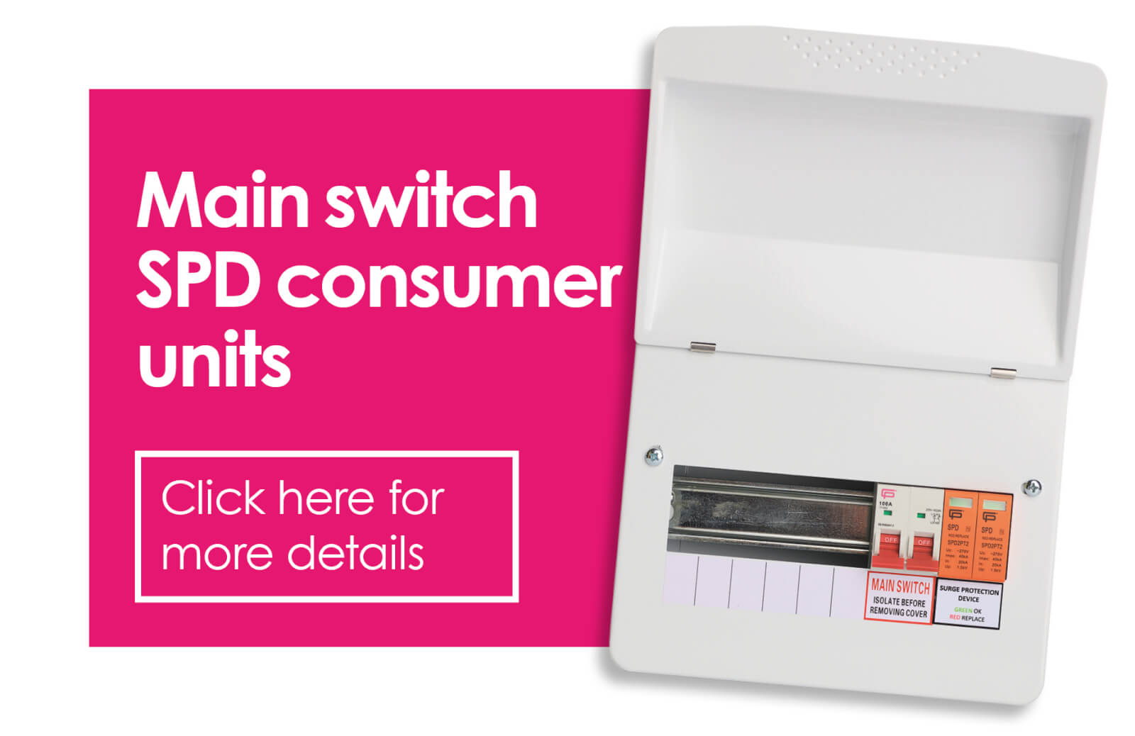 FUSEBOX Main Switch SPD Consumer Units